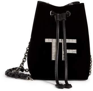 Tom Ford Mini Velvet Logo Bucket Bag