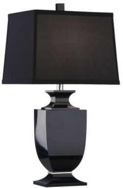 Parke Black Crystal Accent Lamp