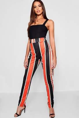 boohoo Tall Bold Stripe Skinny Trousers