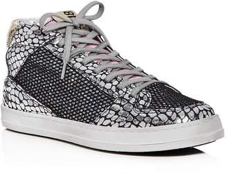 P448 Women's Queens Glitter Mid-Top Sneakers