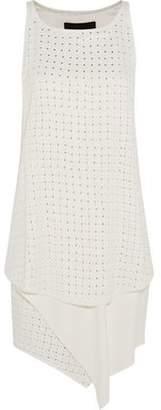 Jay Ahr Studded Asymmetric Mini Dress