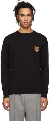 Black Teddy Bear Crewneck Sweater