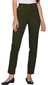 Denim & Co. Petite Slim Leg Classic Waist 5-PktStretch Pants