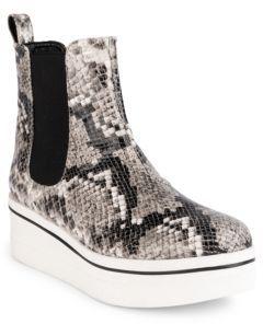Stella McCartney Binx Snake-Embossed Platform Boots