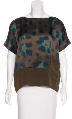 Kenzo Abstract Print Silk Top