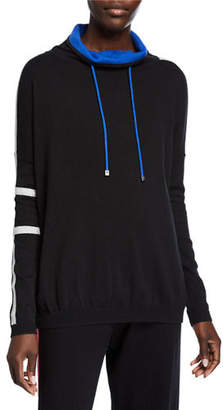 LISA TODD Champ Funnel-Neck Cotton/Cashmere Sweater