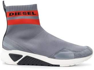 Diesel logo sock sneakers