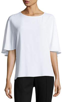 Michael Kors Marocain Silk Blouse $695 thestylecure.com