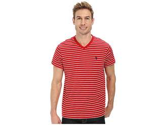 U.S. Polo Assn. Thin Stripe V-Neck T-Shirt Men's T Shirt