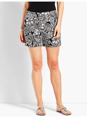 "Talbots 5"" Etched Paisley Short"