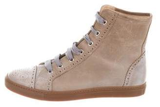 Brunello Cucinelli Brogue High-Top Sneakers