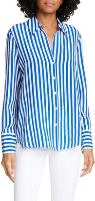 L'Agence Brielle Stripe Silk Shirt
