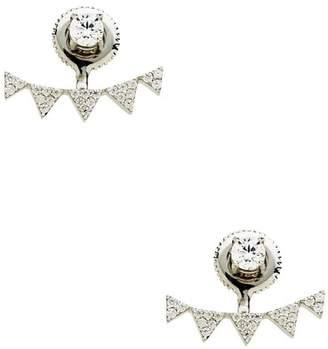 Sterling Forever Sterling Silver CZ Multi Triangle Jacket Earrings