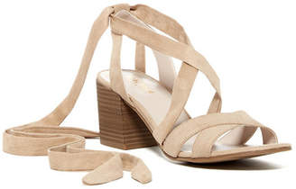 Kenneth Cole Reaction Vee Free Block Heel Sandal $79 thestylecure.com