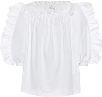 See by Chloe Ruffled cotton shirt