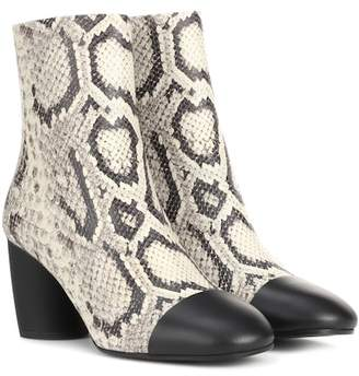 Proenza Schouler Printed leather ankle boots