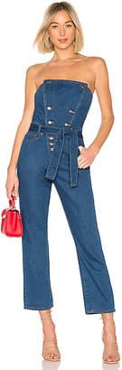 Bardot Blue Jean Bustier Jumpsuit