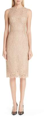 Dolce & Gabbana Lace Pencil Dress
