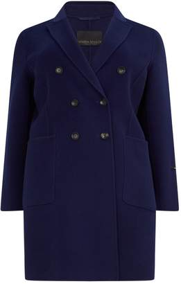 Marina Rinaldi Wool Double-Breasted Coat