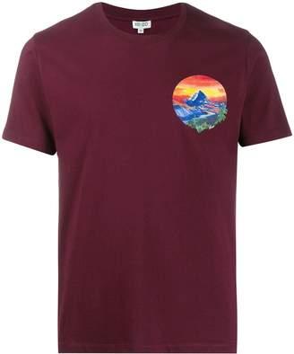 Kenzo painted landscape T-shirt