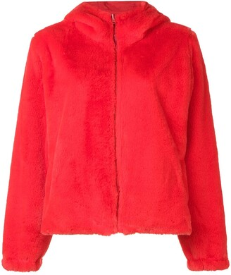 P.A.R.O.S.H. faux fur hooded jacket