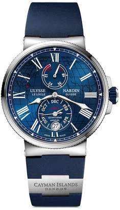 Ulysse Nardin Stainless Steel Marine Chronometer Watch 43mm