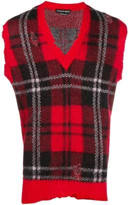 Alexander McQueen sleeveless tartan sweater