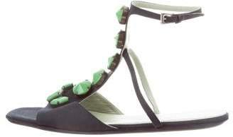 Prada Embellished Flat Sandals