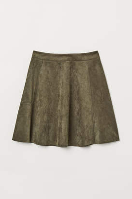 H&M Faux Suede Skirt - Green