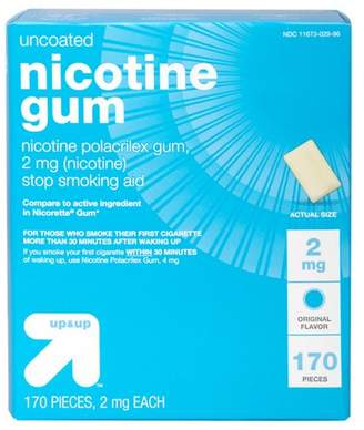 Nicorette Up&Up Nicotine 2mg Gum Stop Smoking Aid - Original Flavor - 170ct - Up&Up (Compare to active ingredient in Gum)