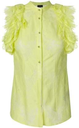 Just Cavalli lace ruffle shirt