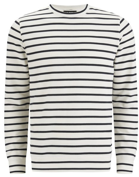 A.P.C. Men's Kelibia Duffel Stripe Sweatshirt Dark Navy