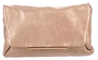 Lanvin Metallic Leather Clutch