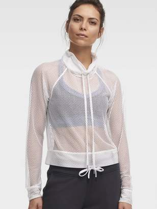 DKNY Mesh Funnel Neck Pullover