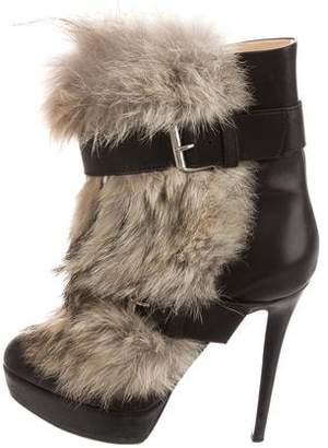 Christian Louboutin Toundra Fur Platform Boots