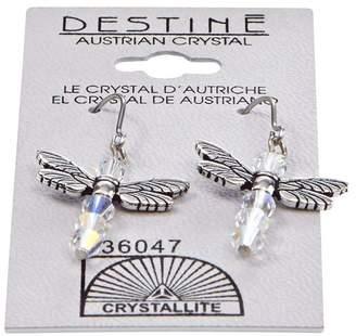 Crystallite Destine Dragonfly Dangle Earrings