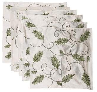 Kim Seybert Set of 6 Silk Embroidered Dinner Napkins