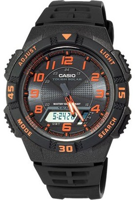 Casio Men's Slim Solar-Powered Watch, Resin Band