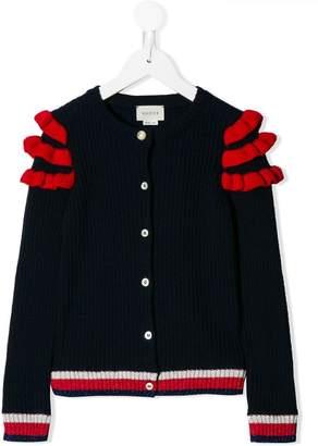 Gucci Kids ruffle-trimmed cardigan