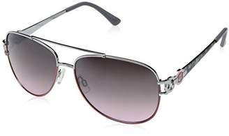 Rocawear Women's R567 SLVCR Aviator Sunglasses