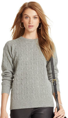 Polo Ralph Lauren Classic Cable Cashmere Sweater $398 thestylecure.com