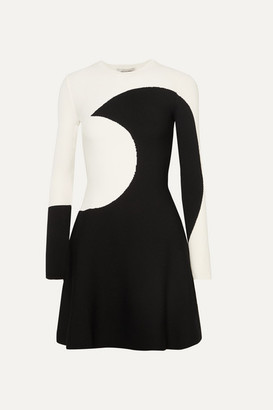 Valentino Jacquard-knit Mini Dress - Ivory