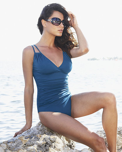 One-Piece Double-Strap Swimsuit