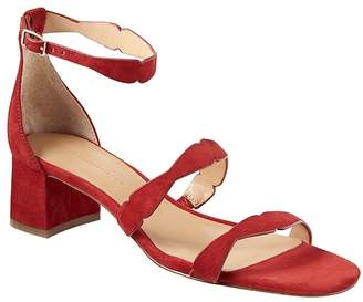 Banana Republic Laser-Cut Low Block-Heel Sandal