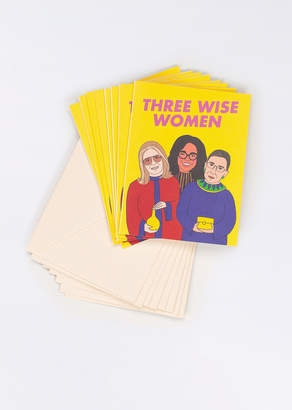 WildFang Seltzer Goods Three Wise Women Holiday Card Set   Seltzer Goods Three Wise Women Boxed Holiday Card Set - YELLOW - OS