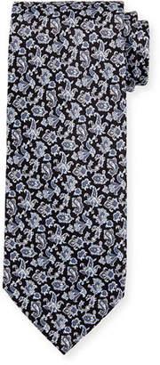 Stefano Ricci Floral-Print Silk Tie