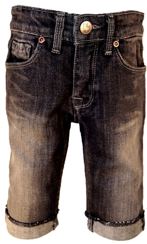Lifesize La Miniatura - Boy's Vintage Black Denim Short