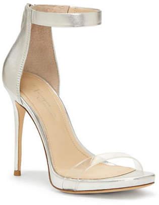 Vince Camuto IMAGINE Diva Metallic Leather Ankle-Strap Sandals