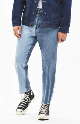 Barney Cools B. Relaxed Two-Tone Cropped Straight Leg Jeans