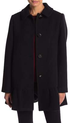 Kate Spade Front Button Wool Blend Coat